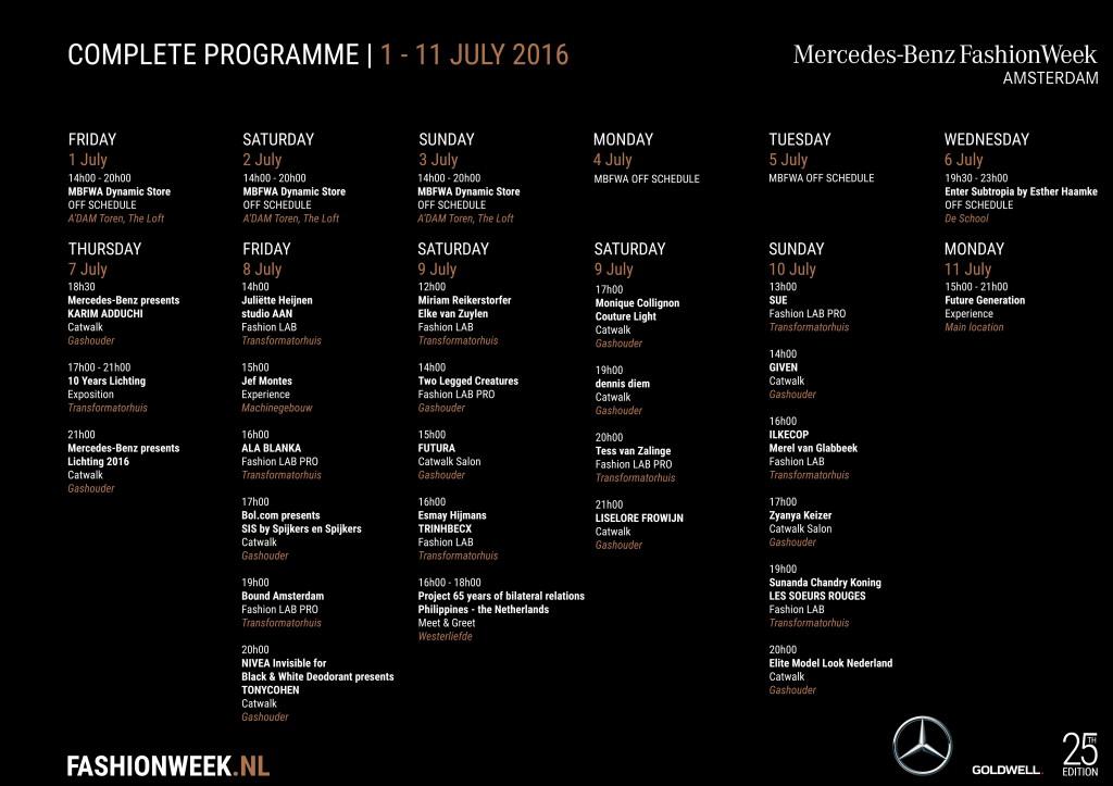 FashionWeek Programma