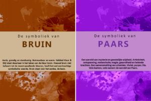 Kleursymboliek Paars en Bruin