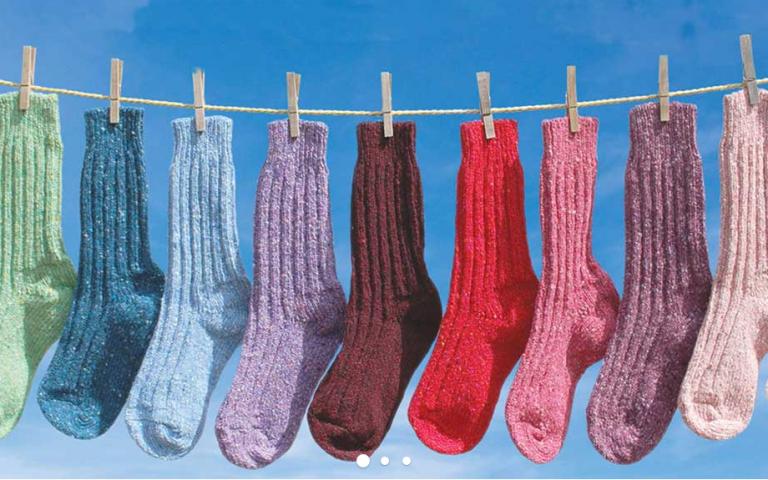 Kleurrijke sokken
