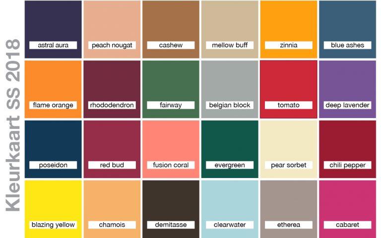 Kleurkaart SS2018
