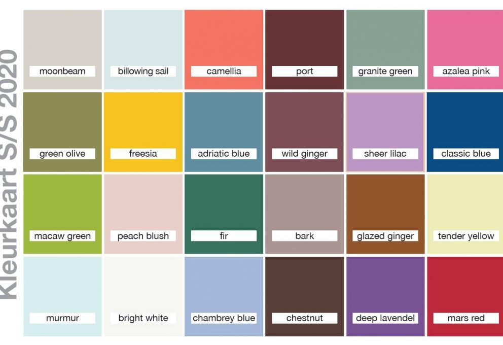 Kleurkaart SS20
